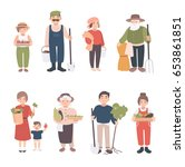 set of village people.... | Shutterstock .eps vector #653861851