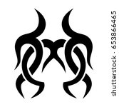 tattoo tribal vector designs.... | Shutterstock .eps vector #653866465
