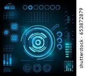 futuristic virtual graphic... | Shutterstock .eps vector #653872879