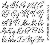 hand drawn elegant calligraphy... | Shutterstock .eps vector #653878771