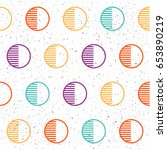 handmade geometric round... | Shutterstock .eps vector #653890219