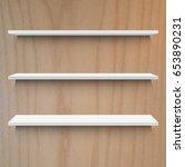 wooden shelf  vector... | Shutterstock .eps vector #653890231