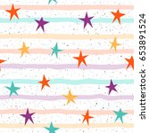 star seamless pattern... | Shutterstock .eps vector #653891524