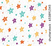 star seamless pattern... | Shutterstock .eps vector #653891545