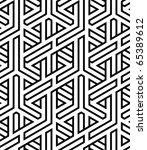 abstract seamless braided... | Shutterstock .eps vector #65389612