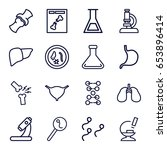 biology icons set. set of 16... | Shutterstock .eps vector #653896414