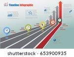 design template  road map... | Shutterstock .eps vector #653900935
