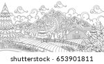 adult coloring illustration of... | Shutterstock .eps vector #653901811