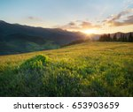 road on the mountain hill.... | Shutterstock . vector #653903659