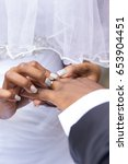 black african wedding couple... | Shutterstock . vector #653904451