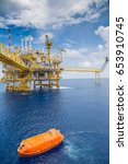 offshore oil and gas central... | Shutterstock . vector #653910745