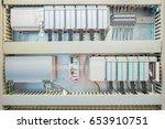 programmable logic controller   ... | Shutterstock . vector #653910751