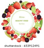 vector mixed cherry and berry...   Shutterstock .eps vector #653912491