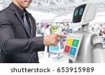 robotics trends technology... | Shutterstock . vector #653915989