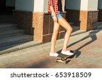 summer holidays  extreme sport... | Shutterstock . vector #653918509