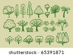 group of vectorial trees | Shutterstock .eps vector #65391871