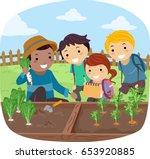 illustration of stickman kids... | Shutterstock .eps vector #653920885