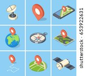 gps navigation icons set.... | Shutterstock .eps vector #653922631