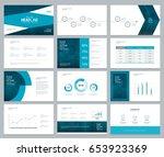 business presentation design... | Shutterstock .eps vector #653923369