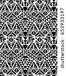 black and white aztec design  ... | Shutterstock .eps vector #653933197