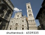 the front of the Duomo, Florence, Italy