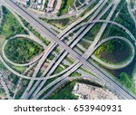 elevated expressway. the curve...   Shutterstock . vector #653940931