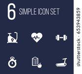 set of 6 training icons set