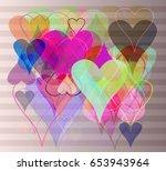 valentine vector template | Shutterstock .eps vector #653943964