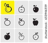 apples icons | Shutterstock .eps vector #653946559