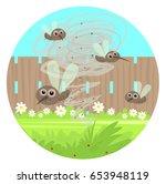 gnats clip art   cartoon clip... | Shutterstock .eps vector #653948119