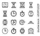 timer icons set. set of 16... | Shutterstock .eps vector #653951029