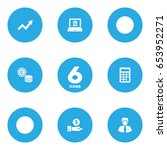 set of 6 budget icons set... | Shutterstock .eps vector #653952271