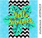 hello summer background | Shutterstock .eps vector #653956219