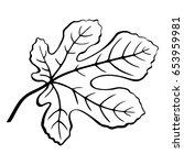 fig tree leaf black pictogram ... | Shutterstock .eps vector #653959981