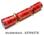 festive christmas cracker over...