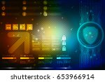 2d illustration security... | Shutterstock . vector #653966914