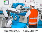 maintenance engineer control... | Shutterstock . vector #653968129