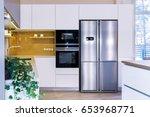 modern home interior. modern... | Shutterstock . vector #653968771