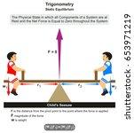 trigonometry static equilibrium ... | Shutterstock .eps vector #653971219