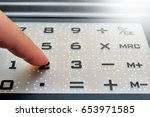close up numbers on calculator...   Shutterstock . vector #653971585