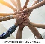 team work concept. business... | Shutterstock . vector #653978617