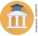 university vector icon | Shutterstock .eps vector #653984791