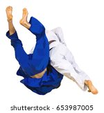 low poly fighter judo throw for ...   Shutterstock .eps vector #653987005