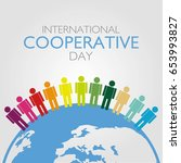 international cooperative day... | Shutterstock .eps vector #653993827
