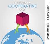 international cooperative day... | Shutterstock .eps vector #653993854