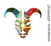 aries zodiac sign  vector... | Shutterstock .eps vector #653999167