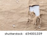 old canvas background with a... | Shutterstock . vector #654001339