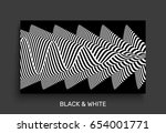 black and white abstract... | Shutterstock .eps vector #654001771