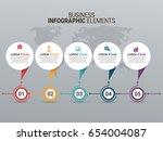 popular infographics elements | Shutterstock .eps vector #654004087