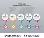 popular infographics elements | Shutterstock .eps vector #654004339